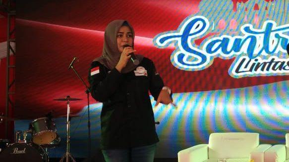 Diyah Arumsari, wanita asal Malang, Jawa Timur, selenggarakan Santripreneur 2019 di Kuta, Bali.