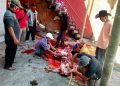 Suasan penyembelihan hewan kurban. (Foto: Wiyono-Javasatu.com)