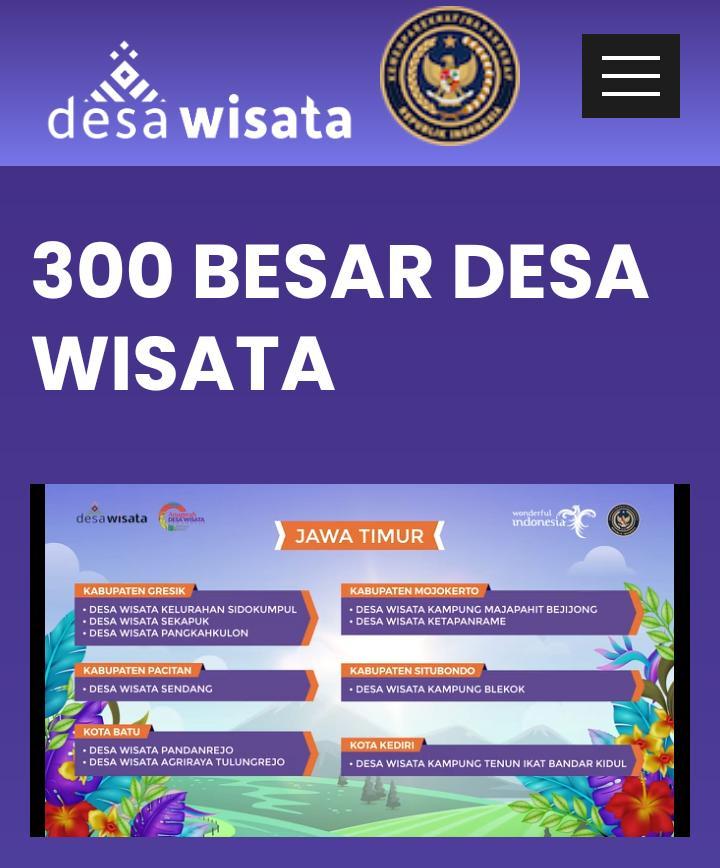 Ada 3 Desa di Gresik Lolos 300 Besar Anugerah Desa Wisata Indonesia 2021